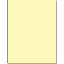 8-1/2 x11 Laser Cards 6 Up - Canary