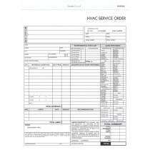 3 Part HVAC Invoice & Repair Detail Form
