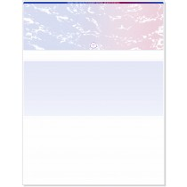 Blank Laser Top Check Paper, Blue/Red Prismatic