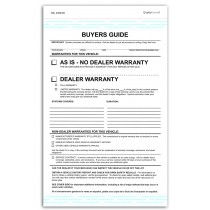 2 Part Federal Buyers Guides, Warranty