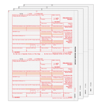 2017 Laser 1099-MISC Income Set, 4-Part