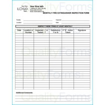 Monthly Fire Extinguisher Inspection Form