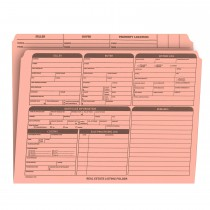 Real Estate Folder Right Panel List Letter Size, Pink