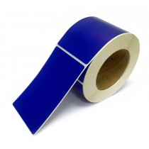 Rectangle Inventory Color Coding Labels - Blue - 3 x 5