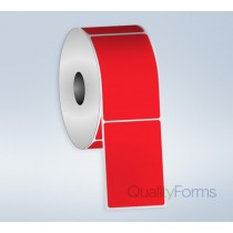Thermal Transfer  label, 4''x6'', Red FL