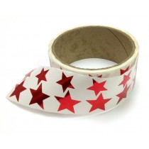 Metallic Foil Star Stickers, Red