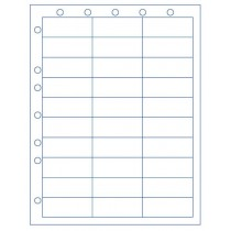 Sheet with 30 Labels, and Hole Punching