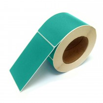 Rectangle Inventory Color Coding Labels - Teal - 3 x 5
