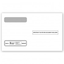 2019 4-Up Horiz. Laser W-2 Double-Window Envelope, Self-Seal
