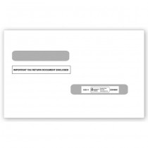 2018 4-Up Laser W-2 & Laser 1099-R Double-Window Envelope