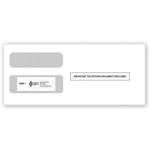 2018 1099 3-Up Double-Window Envelope (Stub On)