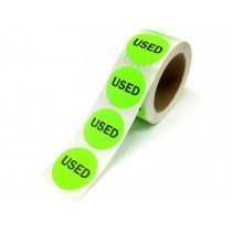 "2"" Inventory Control/Date 500 Permanent Labels  Green ""Used"" Labels  3"" Core"