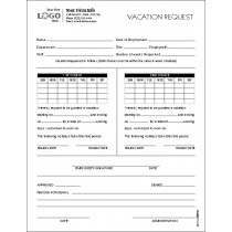 Employee Vacation Request Form, 8-1/2 x 11""