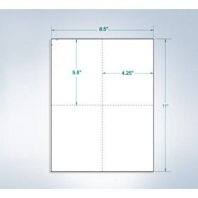 "8-1/2"" x 11"" White Laser Cards, 4 per page Extra Heavy"