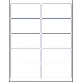"8-1/2"" x 11"", 10 Labels, per Sheet,4"" x 2''"