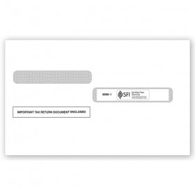 2020 4-Up Box Laser W-2 Double-Window Envelope