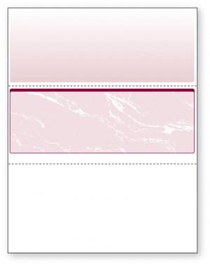 Blank Laser Middle Check Paper, Burgundy