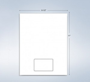 """1 Integrated Card, With 2 Mil Backer, 3-3/8"""" x 2-1/8"""", on the Center"""