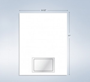 """1 Integrated Card, 3-3/8"""" x 2-1/8"""", with Front and Back Lam."""