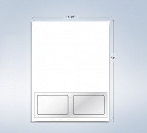 """2 Integrated Cards, 3-3/8"""" x 2-1/8"""", with Front and Back Lam."""