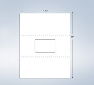 """1 Integrated Card, 3-3/8"""" x 2-1/8"""", on the center"""
