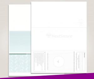 Blank Laser Bottom Check Paper, Green