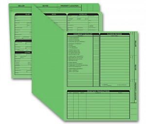 Real Estate Folder Right Panel List Letter Size, Green