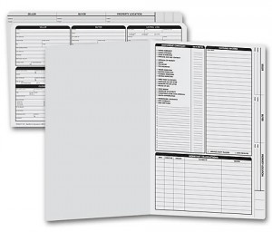 Real Estate Folder, Right Panel List, Legal Size, Gray