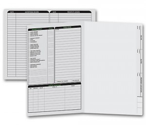 Real Estate Folder Left Panel List Letter Size, Gray