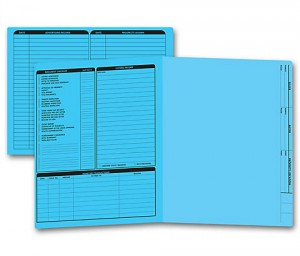 Real Estate Folder Left  Panel List Letter Size, Blue