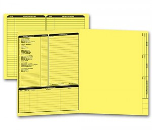 Real Estate Folder Left Panel List Letter Size, Yellow