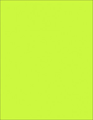 """8-1/2 x 11"""" Letter, 65 Lb. Cover Card Stock, Lime"""