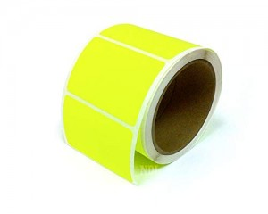 Rectangle Inventory Color Coding Labels - Yellow - 3 x 2