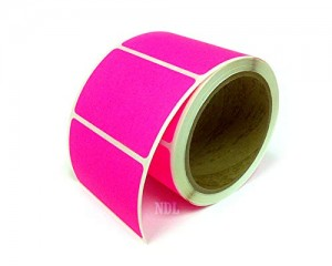 Rectangle Inventory Color Coding Labels - Pink - 3 x 2