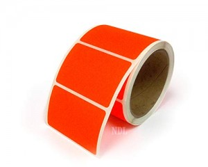 Rectangle Inventory Color Coding Labels - Red - 3 x 2