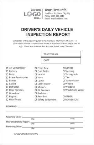 Driver Inspection Report Form