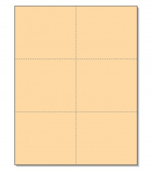 8-1/2 x11 Laser Cards 6 Up - Buff
