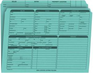 Real Estate Folder Right Panel List Letter Size, Blue