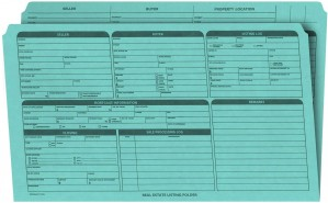 Real Estate Folder, Right Panel List, Legal Size, Blue