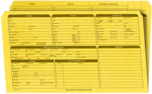 Real Estate Folder, Right Panel List, Legal Size, Yellow