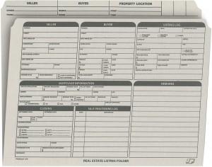 Real Estate Folder Right Panel List Letter Size, Gray