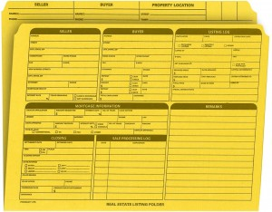 Real Estate Folder Right Panel List Letter Size, Yellow