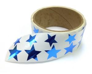 Metallic Foil Star Stickers, Blue