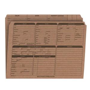 Real Estate Folder Right Panel List Letter Size, Brown Kraft