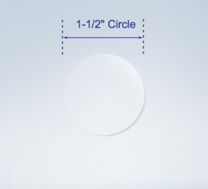 """1.5"""" Circle Seals high Gloss Clear for  Boxes or Envelopes"""