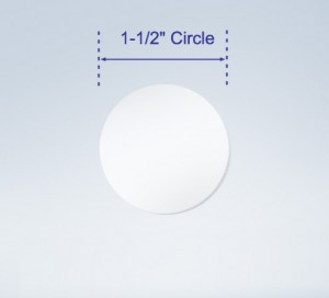 "Wafer Tab Seals, 1.5"" Round, Translucent"