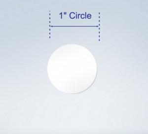 "Wafer Tab Seals, 1"" circular , Translucent"