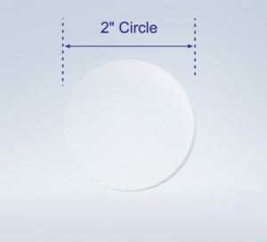 """2"""" Round Seals Super Gloss Clear for Small, Medium Box or Large Envelopes"""
