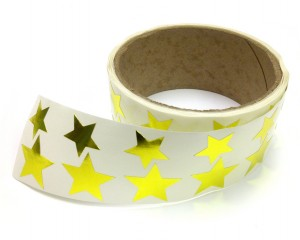 Metallic Foil Star Stickers, Gold