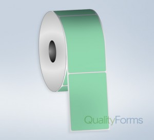 Thermal Transfer  label, 3''x1'', Green